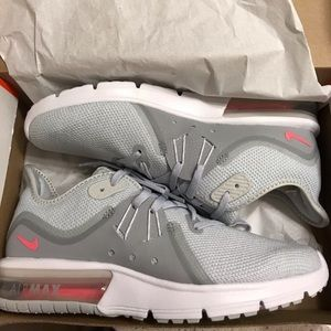 Nike Air Max Sequent 3 Womens Grey Running Shoe